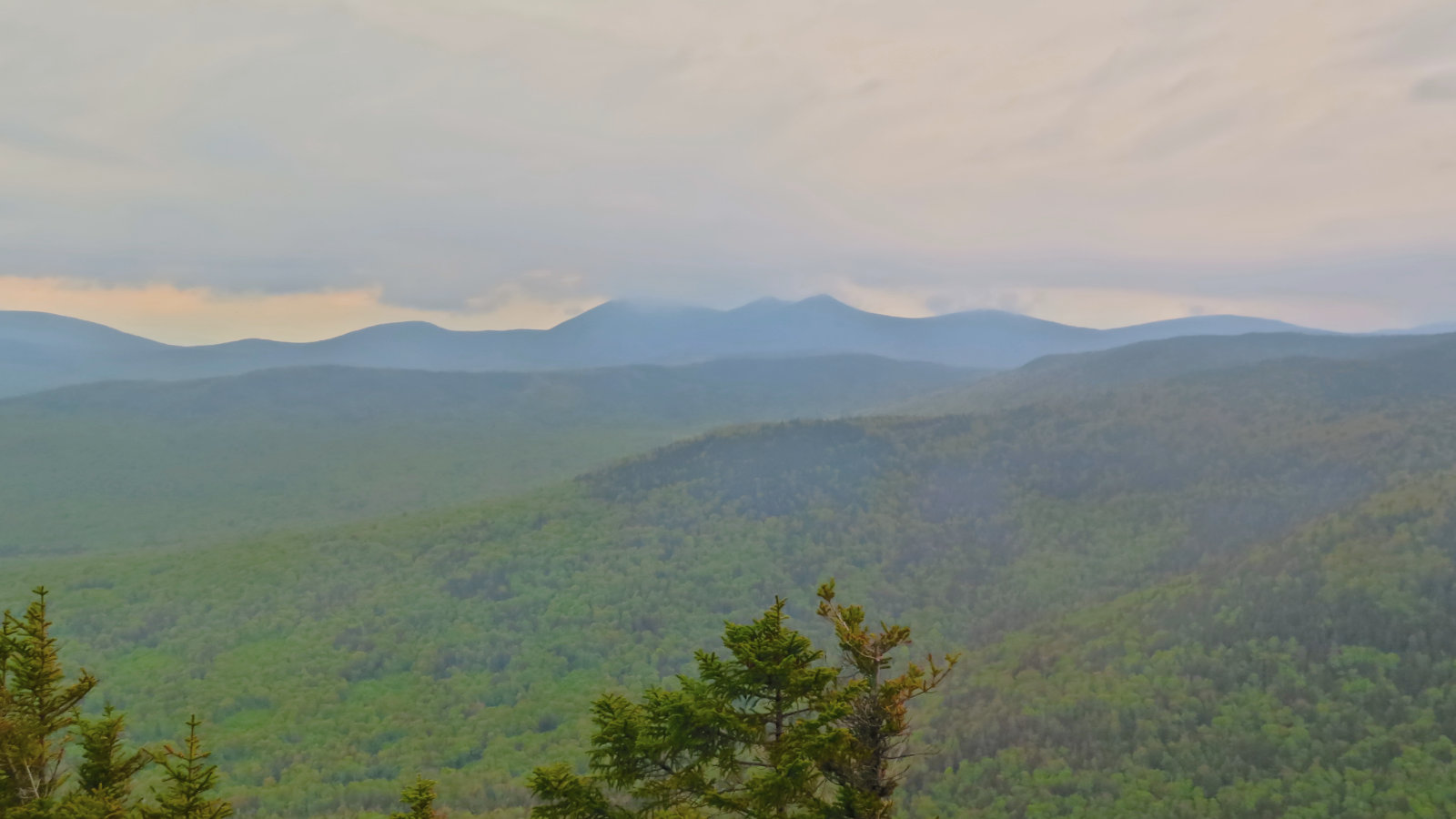 A terribly attenuated view of Mt Tripyramid, White Mountain National Forest, New Hampshire.