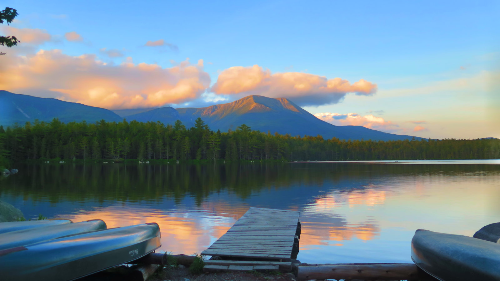 Mount Katahdin over Daicey Pond.