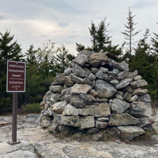 North Pack Monadnock summit cairn